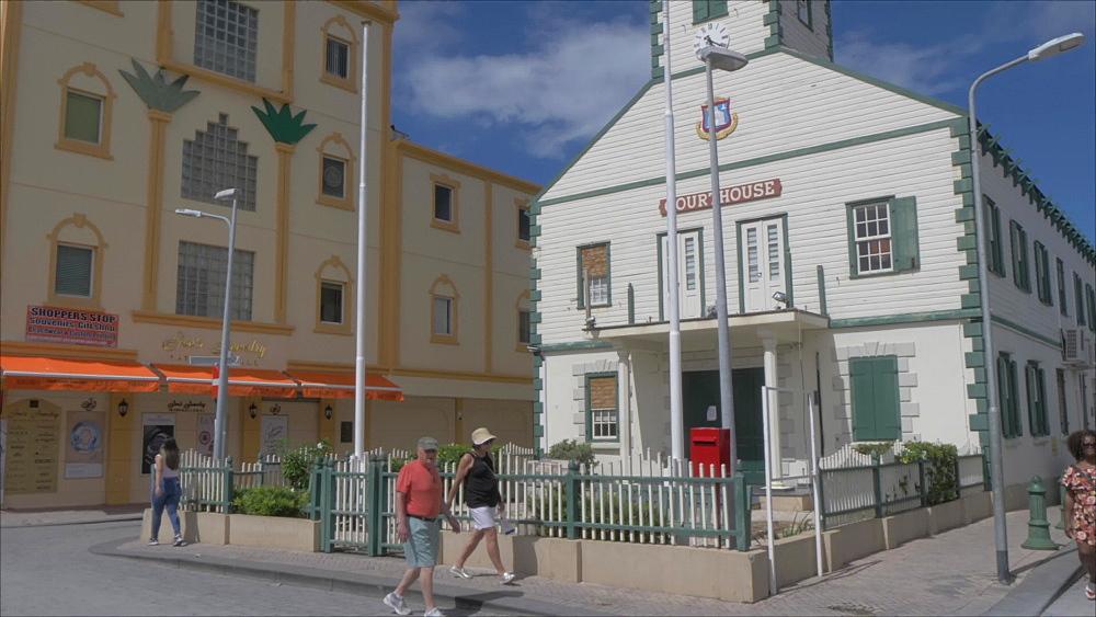 Courthouse in Philipsburg, Philipsburg, St. Maarten, Dutch Antilles, West Indies, Caribbean, Central America