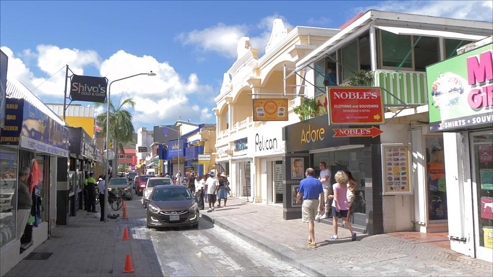 Front Street in Philipsburg, Philipsburg, St. Maarten, Dutch Antilles, West Indies, Caribbean, Central America