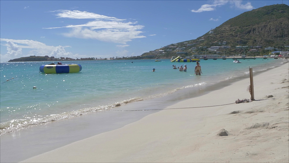Beach in Philipsburg, Philipsburg, St. Maarten, Dutch Antilles, West Indies, Caribbean, Central America