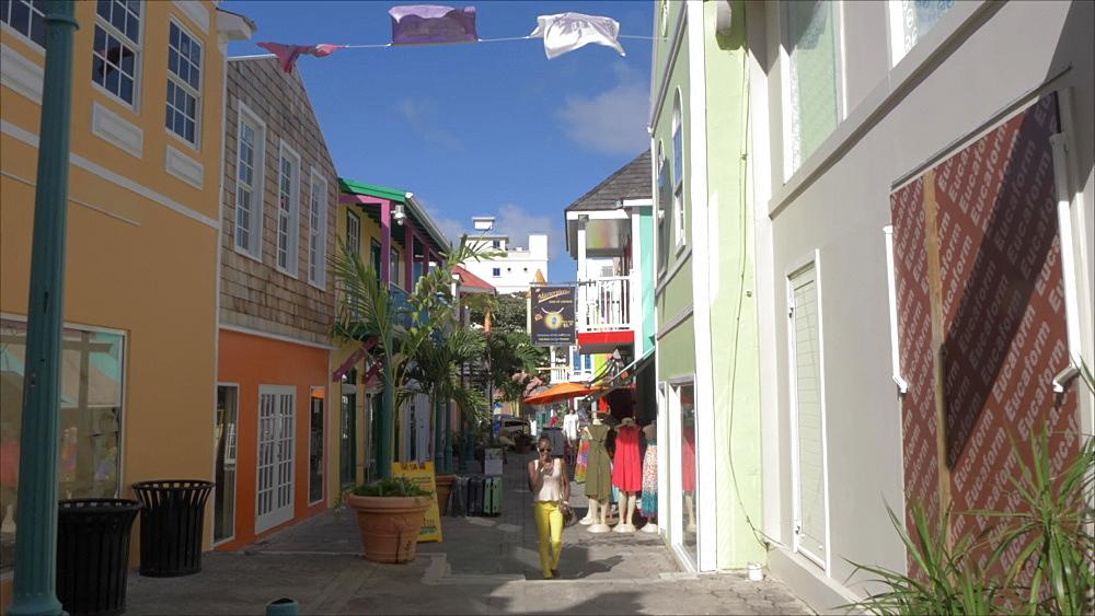 Old Street in Philipsburg, Philipsburg, St. Maarten, Dutch Antilles, West Indies, Caribbean, Central America