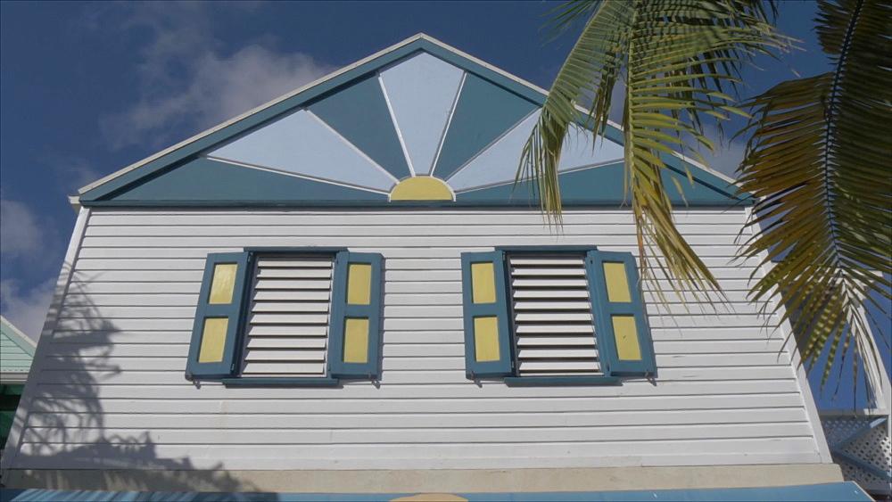 Colourful building on Front Street in Philipsburg, Philipsburg, St. Maarten, Dutch Antilles, West Indies, Caribbean, Central America