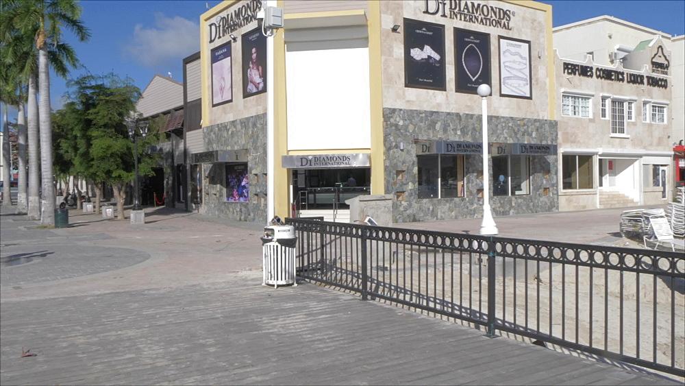 Beach and Courthouse in Philipsburg, Philipsburg, St. Maarten, Dutch Antilles, West Indies, Caribbean, Central America