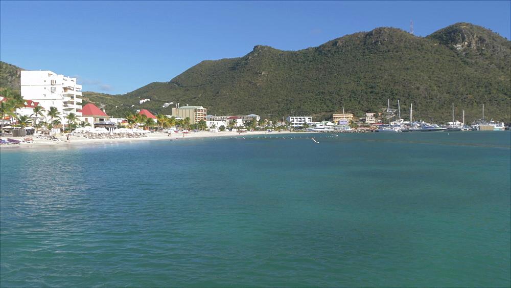 Beach in Philipsburg, Philipsburg, St. Maarten, Dutch Antilles, West Indies, Caribbean, Central America