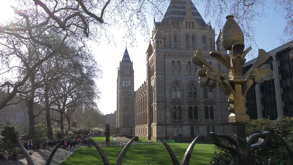 The Natural History Museum in springtime, South Kensington, London, England, United Kingdom, Europe