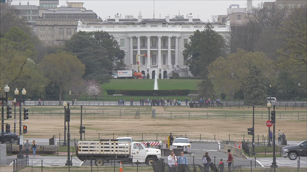 The White House as viewed from The Ellipse, Washington DC, United States of America, North America