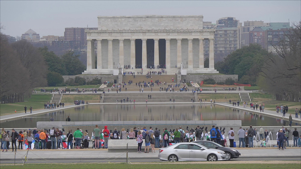 Still shot of The Lincoln Memorial as viewed from The Ellipse, Washington DC, District of Columbia, USA