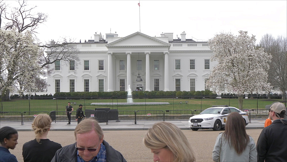 Still shot of the White House and visitors from Lafayette Square, Washington DC, District of Columbia, USA - 844-20084