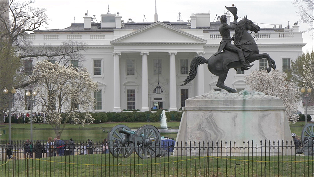 View of the White House from Lafayette Square, Washington DC, District of Columbia, USA - 844-20099