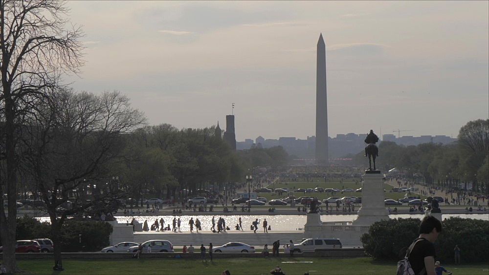 National Mall and Washington Monument from United States Capitol Building, Washington DC, United States of America, North America