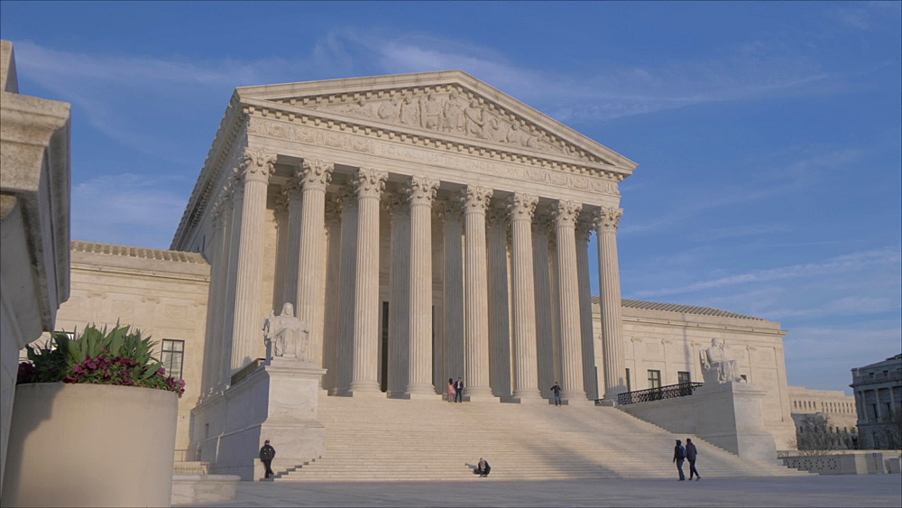Slider shot of Supreme Court of the United States, Washington DC, District of Columbia, USA, North America