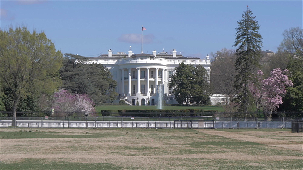 Still shot of the White House from the Ellipse, Washington DC, District of Columbia, USA, North America