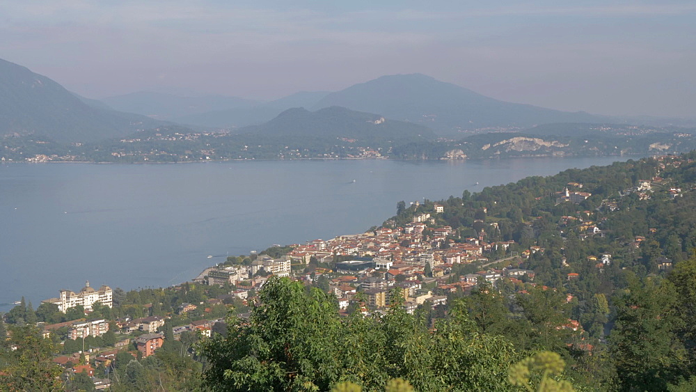 Lake Maggiore from elevated position above Stresa, Lake Maggiore, Piedmont, Italian Lakes, Italy, Europe