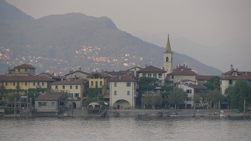 Lake Maggiore and Borromean Islands from Stresa, Lake Maggiore, Piedmont, Italian Lakes, Italy, Europe