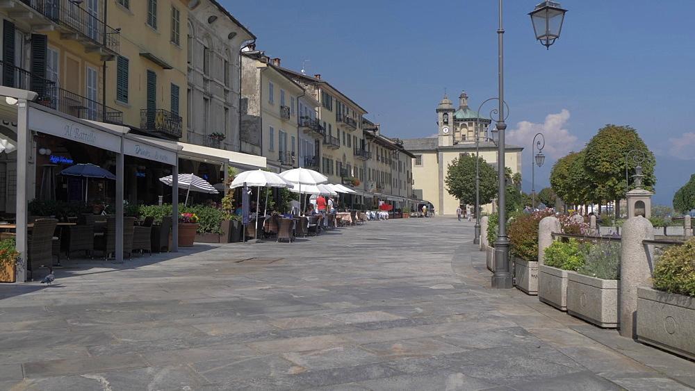 Lakeside walk and harbour in Cannobio on Lake Maggiore, Lake Maggiore, Piedmont, Italian Lakes, Italy, Europe