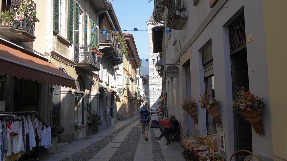 Collegiata di San Vittore in Cannobio on Lake Maggiore, Lake Maggiore, Piedmont, Italian Lakes, Italy, Europe