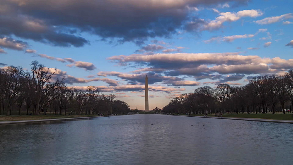 National Mall and Washington Monument from Lincoln Memorial, Washington DC, United States of America, North America