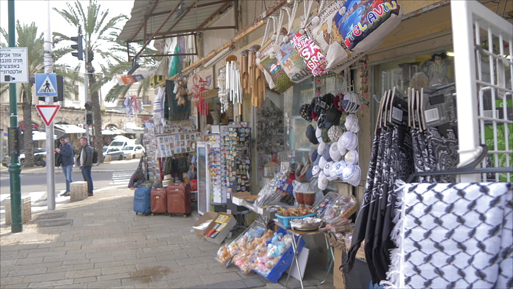 Souvenir shop in Jaffa Old Town, Tel Aviv, Israel, Middle East