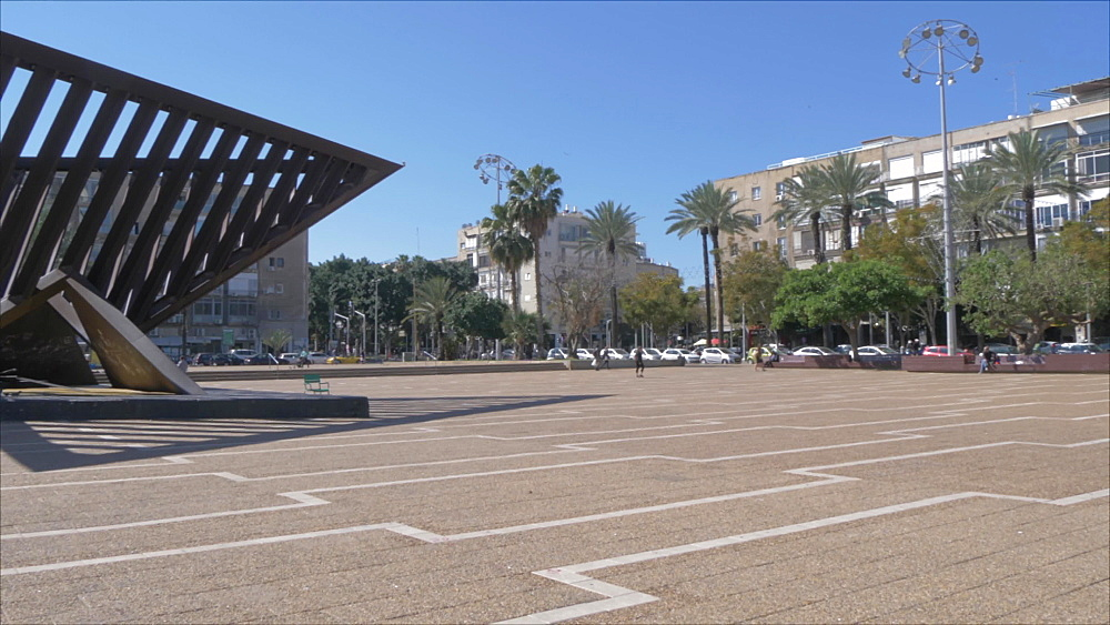 Rabin Square during spring, Tel Aviv, Israel, Middle East
