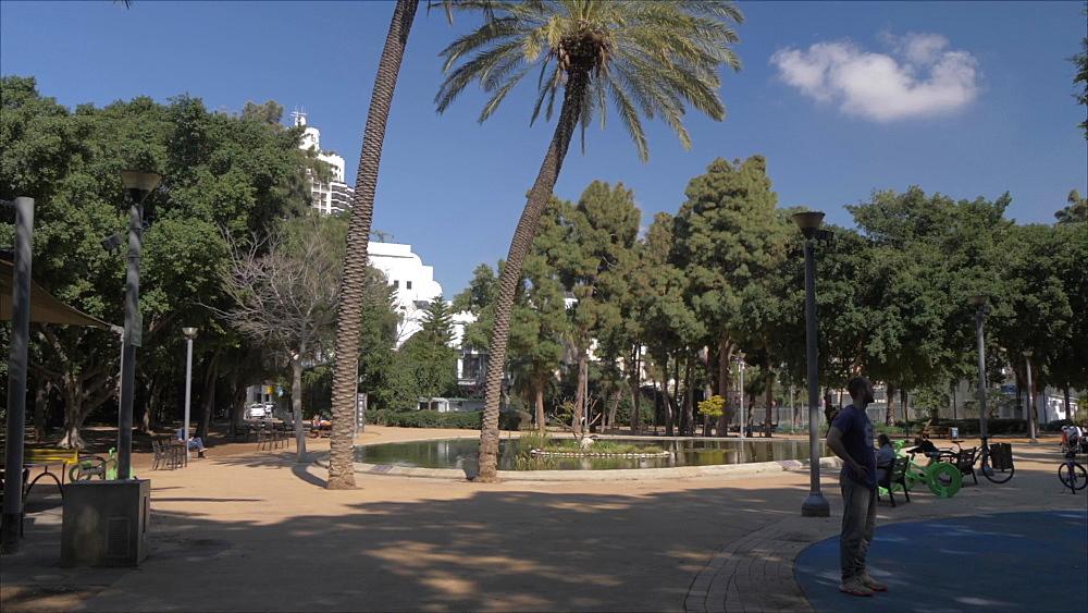 Meir Garden on a sunny day, Tel Aviv, Israel, Middle East