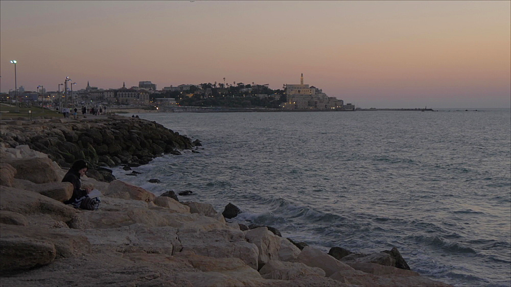 Jaffa Old Town after sunset, Tel Aviv, Israel, Middle East
