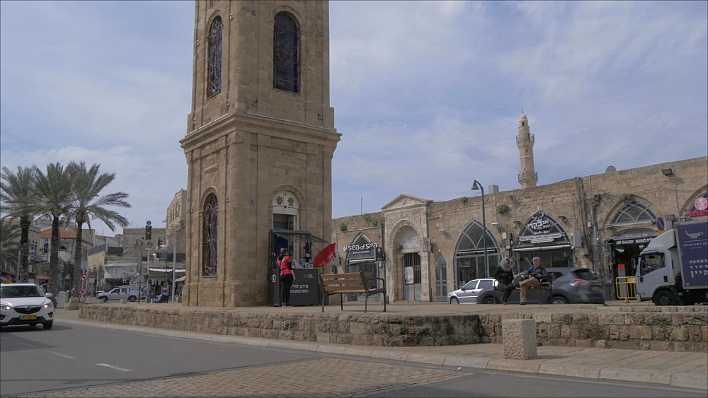 The Clock Tower in Jaffa Old Town, Tel Aviv, Israel, Middle East