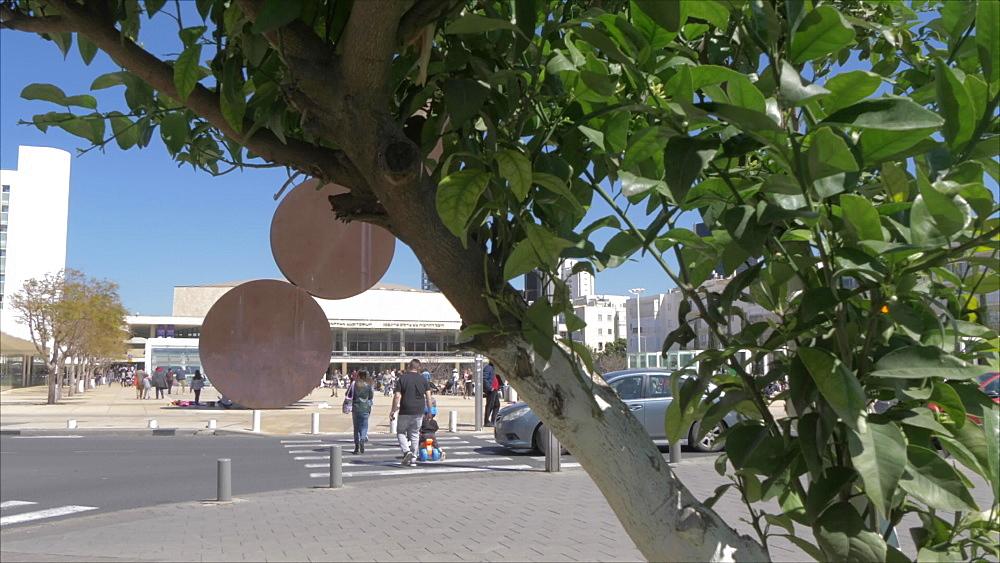 Charles Bronfman Auditorium in Habima Square, Tel Aviv, Israel, Middle East