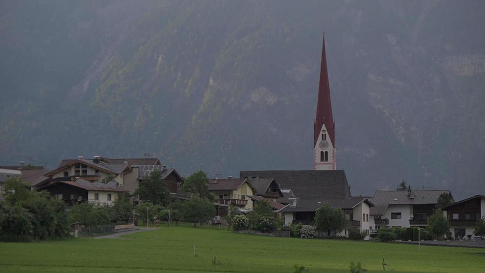 Village Church in the Tuxertal valley, Mayrhofen, Zillertal Valley, Tyrol, Austria, Europe