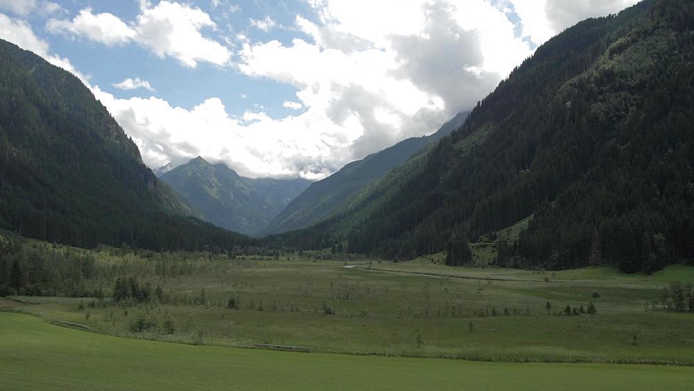 Traditional farm building and landscape near Gfoller, Styria, Austrian Alps, Austria, Europe