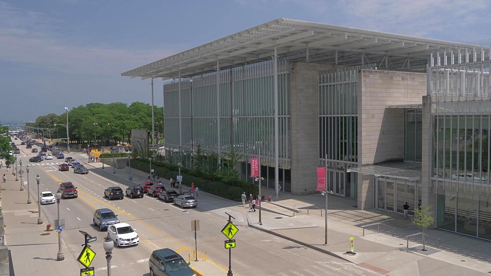 The Nichols Bridgeway and School of the Art Institute of Chicago, Millennium Park, Chicago, Illinois, United States of America, North America
