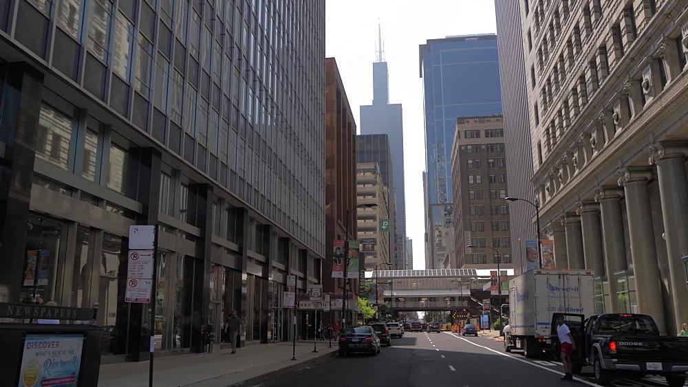 Willis Tower across West Adams Street, Chicago, Illinois, United States of America, North America