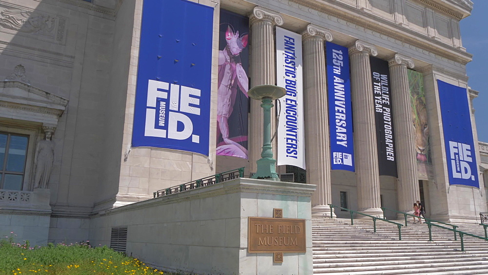 Front facade of The Field Museum, Chicago, Illinois, United States of America, North America