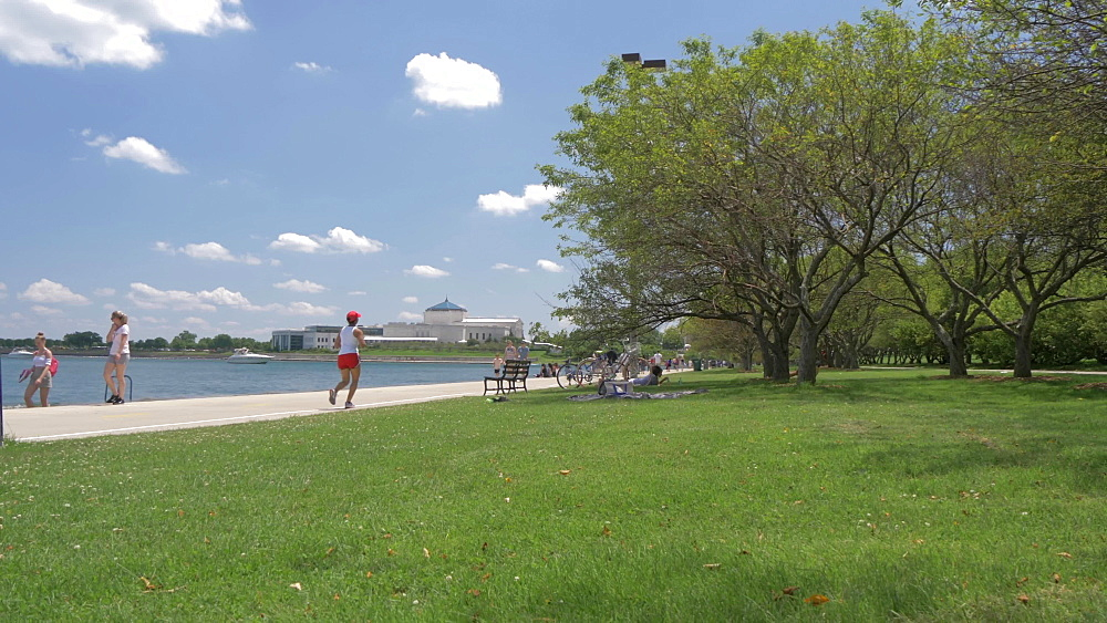 Shedd Aquarium from Lake Front Trail, Chicago, Illinois, United States of America, North America
