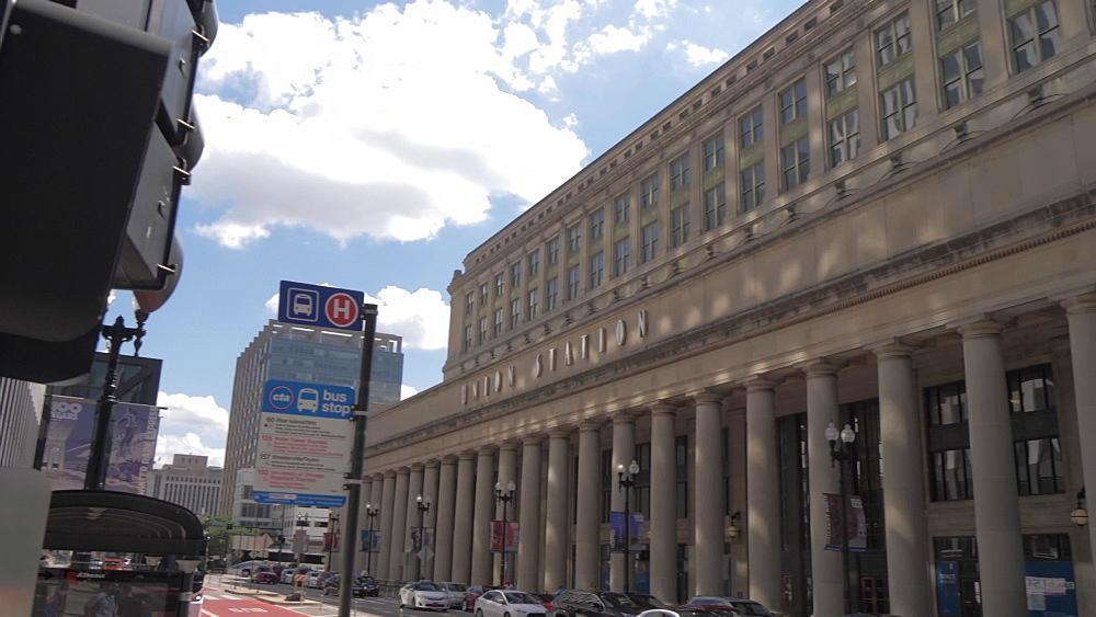 Exterior of Union Station, Chicago, Illinois, United States of America, North America