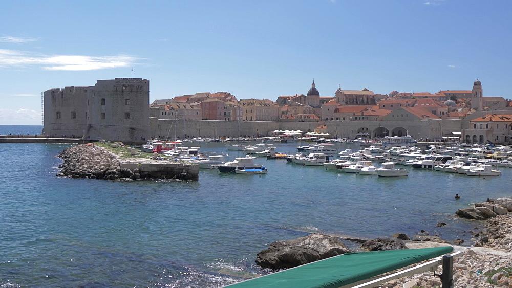 Dubrovnik Old Town Harbour, UNESCO World Heritage Site, Dubrovnik, Dubrovnik Riviera, Croatia, Europe