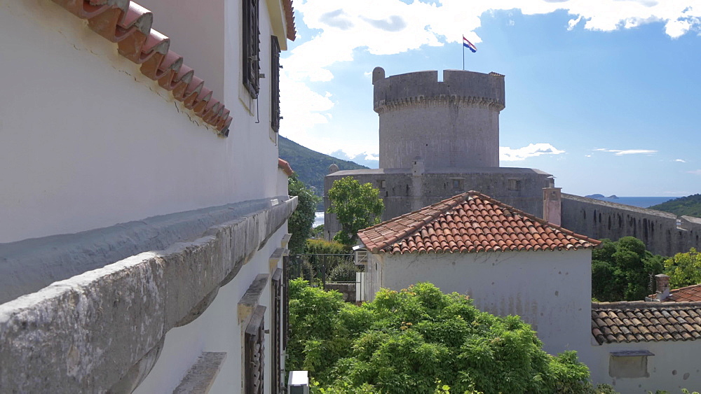 Tvrdava Minceta (Minceta Tower), historic stronghold, Dubrovnik Old Town, UNESCO World Heritage Site, Dubrovnik, Dubrovnik Riviera, Croatia, Europe