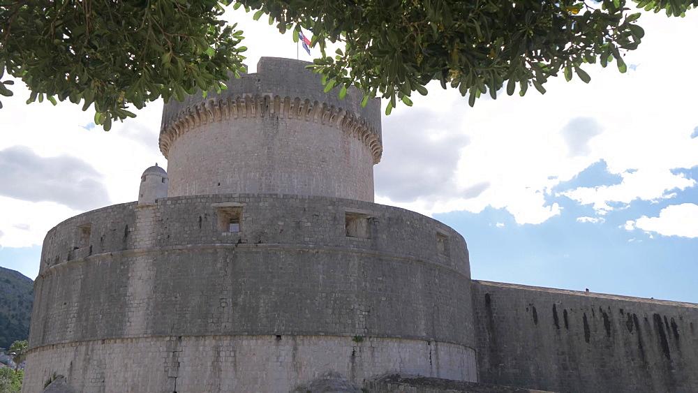 Tvrdava Minceta (Minceta Tower) historic stronghold, Dubrovnik Old Town, UNESCO World Heritage Site, Dubrovnik, Dubrovnik Riviera, Croatia, Europe