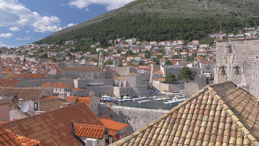 Old town rooftops, Dubrovnik Old Town, UNESCO World Heritage Site, Dubrovnik, Dubrovnik Riviera, Croatia, Europe