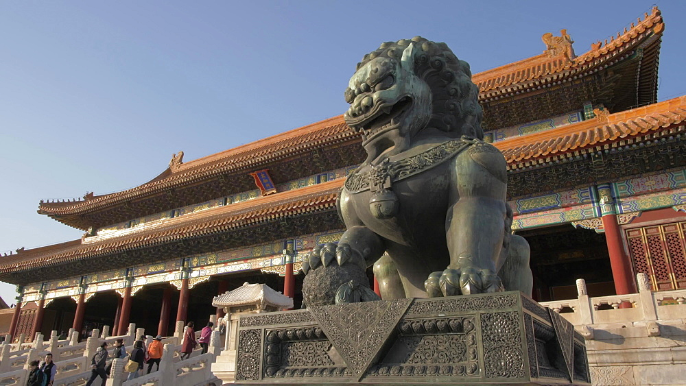 Dragon sculpture and architecture inside the Forbidden City, UNESCO World Heritage Site, Beijing, China, Asia