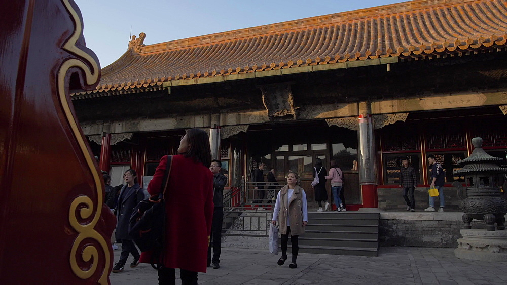 People and architecture inside the Forbidden City, UNESCO World Heritage Site, Beijing, China, Asia