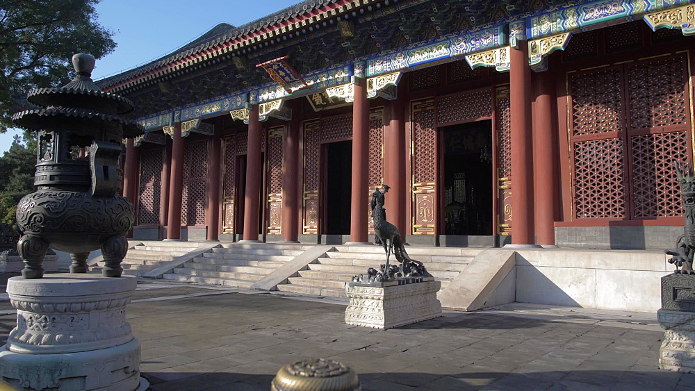 Ornate and colourful temple in the Summer Palace, UNESCO World Heritage Site, Beijing, People's Republic of China, Asia