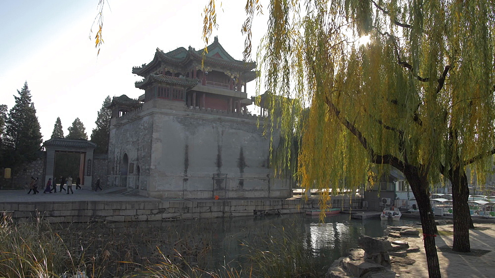 Wenchangge on Kunming Lake, The Summer Palace, UNESCO World Heritage Site, Beijing, People's Republic of China, Asia