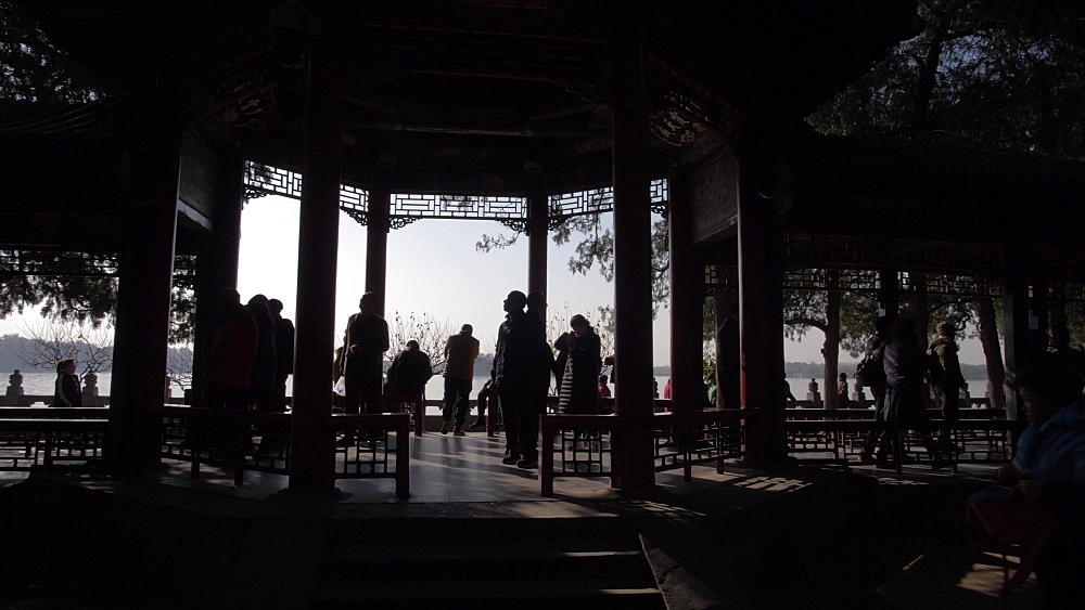 Long Corridor (Chang Lang) in the Summer Palace, UNESCO World Heritage Site, Beijing, People's Republic of China, Asia