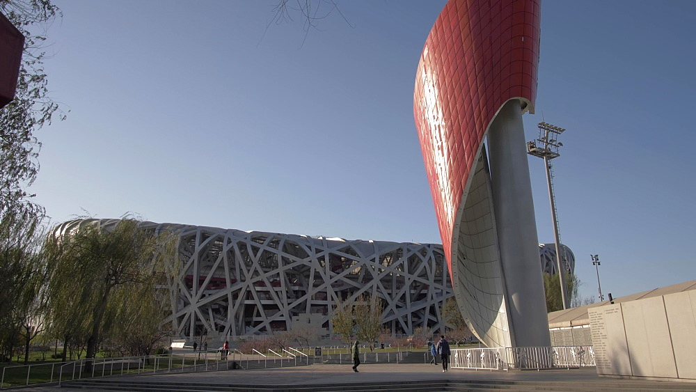 Birds Nest Stadium, Olympic Green, Beijing, People's Republic of China, Asia