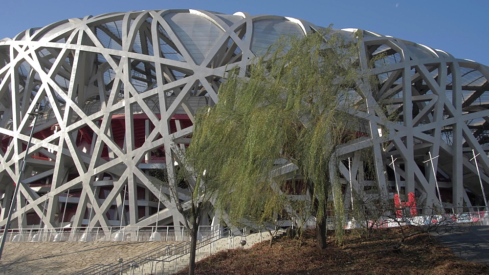 National Stadium (Bird's Nest), Olympic Green, Xicheng, Beijing, People's Republic of China, Asia