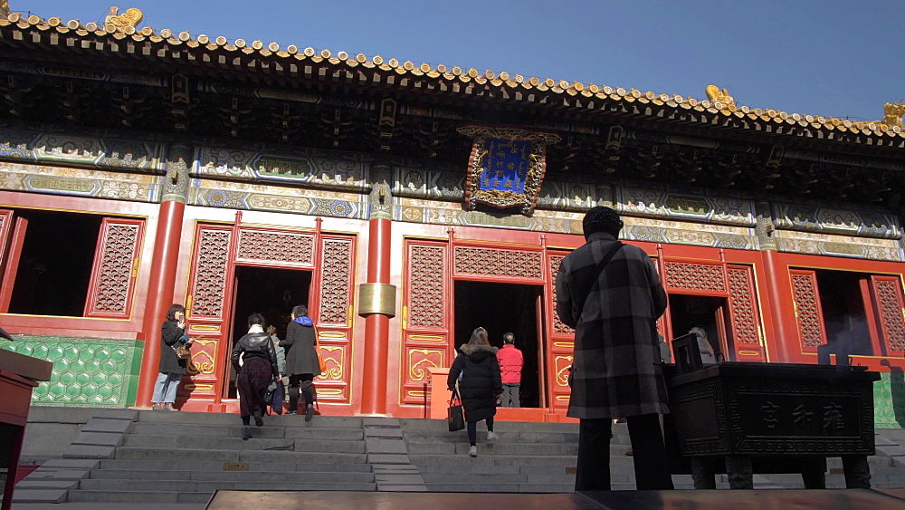 Inside Tibetan Buddhist Lama Temple (Yonghe Temple), Dongcheng, Beijing, People's Republic of China, Asia