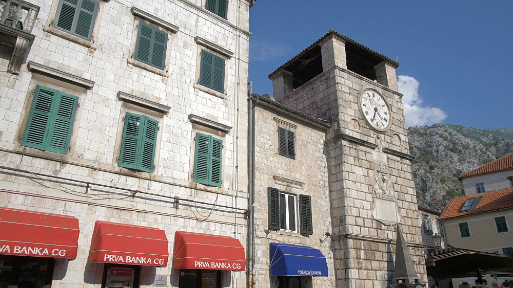 Buildings in the Old Town, Kotor, UNESCO World Heritage Site, Montenegro, Europe