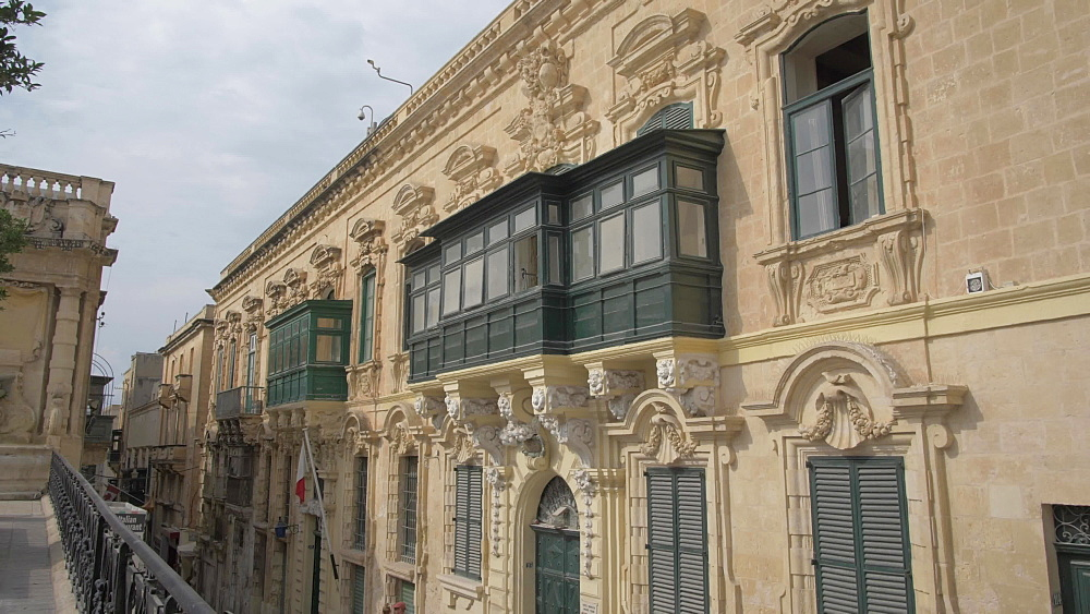 Ornate architecture on St. Georgeís Square, Valletta, Malta, Mediterranean, Europe