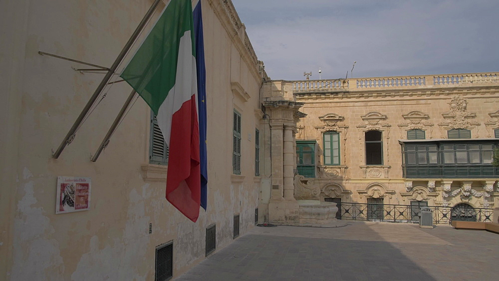 Italian Cultural Institute on St. Georgeís Square, Valletta, Malta, Mediterranean, Europe