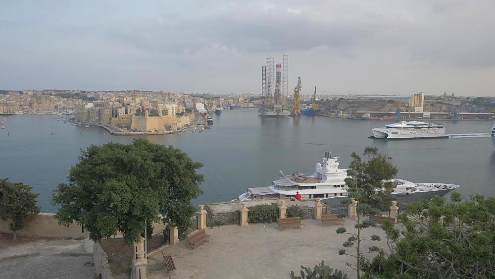 The Grand Harbour, Valletta, Malta, Mediterranean, Europe