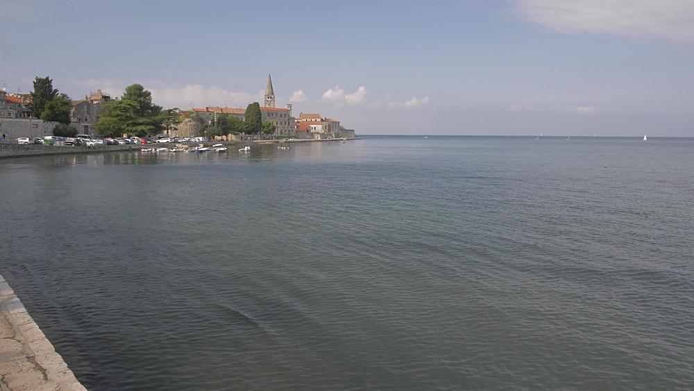 Harbour side and promenade of Porec, Istra, Adriatic Sea, Croatia, Europe